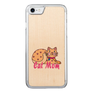 Cat Mom Hearts Kitty Carved iPhone 8/7 Case