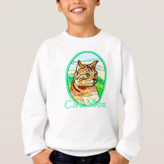 Cat Mom Stained Glass 1 Sweatshirt