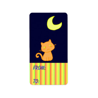 Cat Moon Address Label