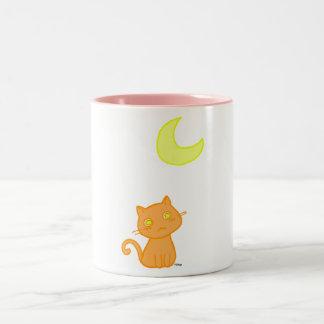 Cat Moon Two-Tone Coffee Mug