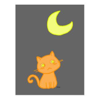 Cat Moon Postcard