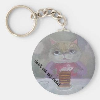 cat & mouse cake art key ring