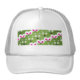Cat Mouse Pattern green Cap