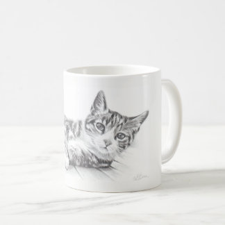 Cat mug, cat art mug, cat lovers mug