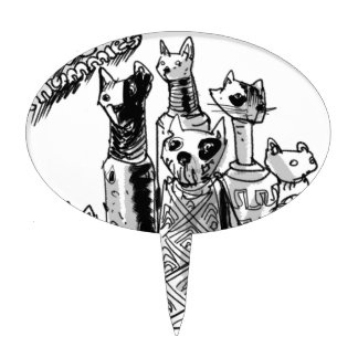 cat_mummies cake toppers