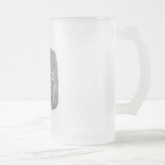 cat mummies grey without text frosted glass mug