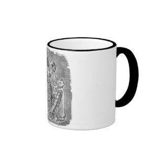 cat mummies grey without text ringer mug