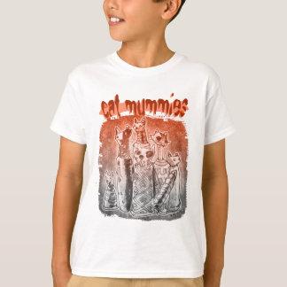 cat mummies red and gray tint tee shirt