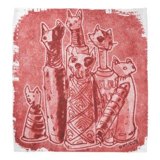 cat mummies red do-rags