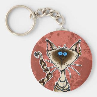 cat mummy key ring