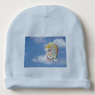 Cat Music in Clouds Baby Beanie