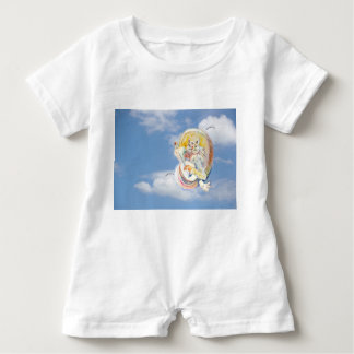 Cat Music in Clouds Baby Bodysuit