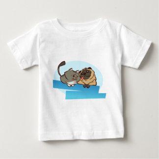 Cat n Pug Baby T-Shirt