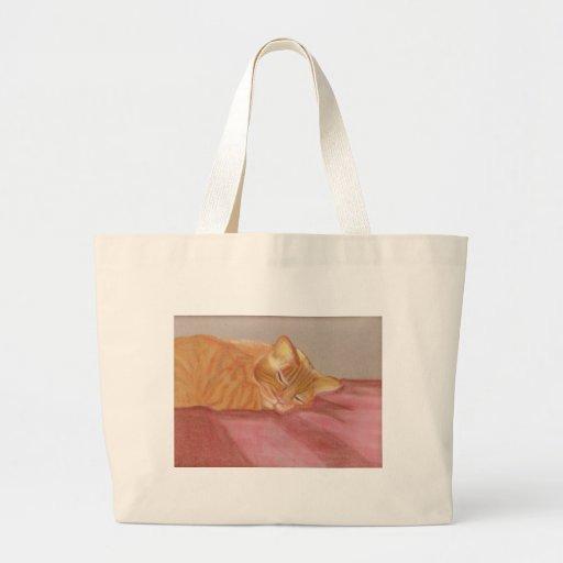 Cat Nap Tote Bags