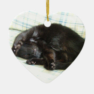 cat nap christmas ornament