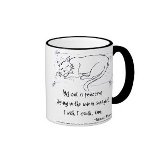 Cat Nap haiku Coffee Mugs