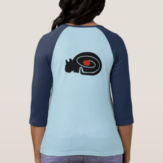 CAT NAP ON BACK by Slipperywindow T-Shirt