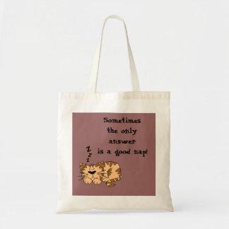 Cat Nap Tote Bag Bag