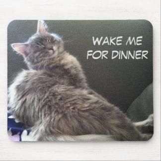 Cat Nap: Wake me for dinner Mouse Mat