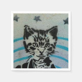 Cat napkins. disposable serviette