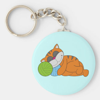 Cat Napping Tshirts and Gifts Key Chain