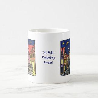 """Cat Night"" in Rothenburg Basic White Mug"
