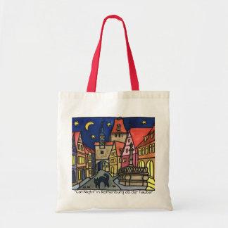 """Cat Night"" Rothenburg Budget Tote Bag"