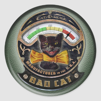Cat-o-Meter Round Sticker