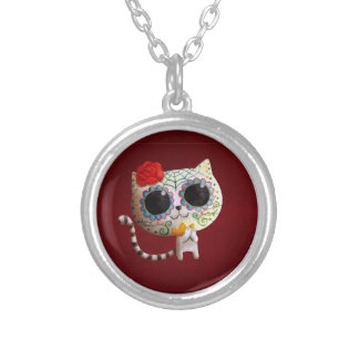 Cat of Day of The Dead Custom Jewelry