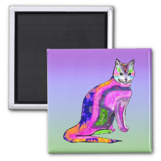 Cat of Many Colors Magnet