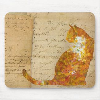 Cat of Many Words Mouse Pad
