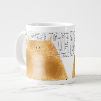 Cat of the future considering jumbo mug