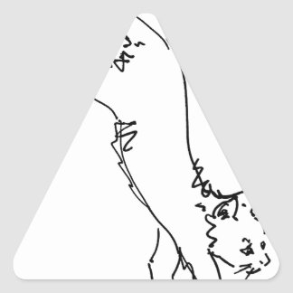 Cat Office Products.jpg Triangle Sticker