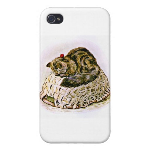 Cat on a Basket Artwork Case For iPhone 4