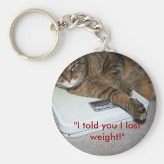 Cat on a diet key chain funny cute item