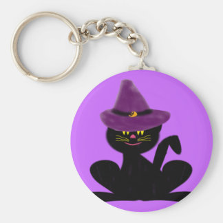 Cat On A Hat Keychain