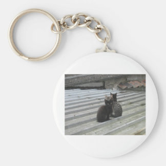 Cat on a Hot Tin Roof Key Ring