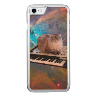 Cat on a Keyboard in Space Carved iPhone 8/7 Case