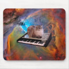 Cat on a Keyboard in Space Mouse Mat