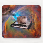 Cat on a Keyboard in Space Mouse Pad