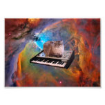 Cat on a Keyboard in Space Photo Art