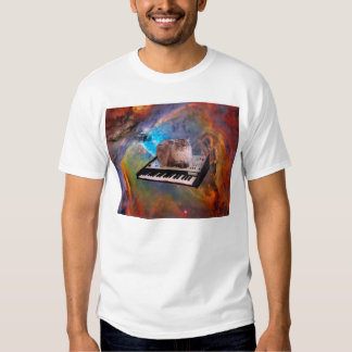 Cat on a Keyboard in Space Shirts