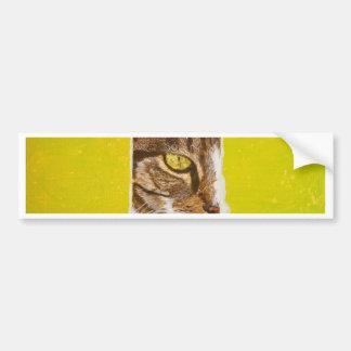 Cat on a piece of paper bumper sticker