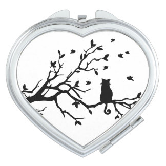 Cat on a tree - Silhouette Vanity Mirror