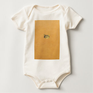 cat on a wall baby bodysuit