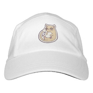 Cat On Its Back Cute White Belly Drawing Design Hat