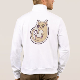 Cat On Its Back Cute White Belly Drawing Design Jackets