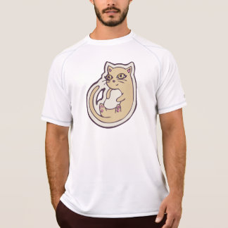 Cat On Its Back Cute White Belly Drawing Design Tshirt