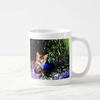 Cat on Oak Roots Mug