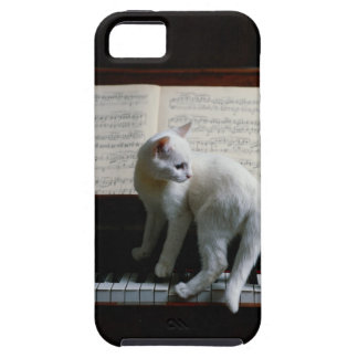 Cat on piano iPhone 5 cover